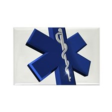 Star of Life Logo Rectangle Magnet (100 pack)