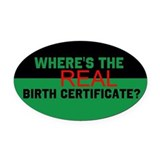 Birth Certificate Oval Car Magnet