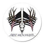 Free men hunt Round Car Magnet