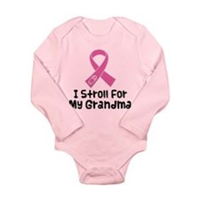 I Stroll For My Grandma Long Sleeve Infant Bodysui