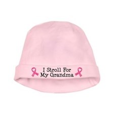 Breast Cancer Stroll For Grandma baby hat