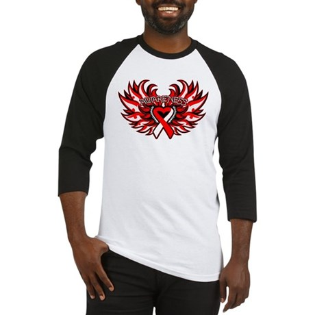Oral Cancer Heart Wings Baseball Jersey