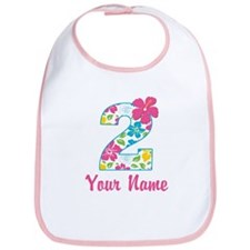 2nd Birthday Tropical Bib