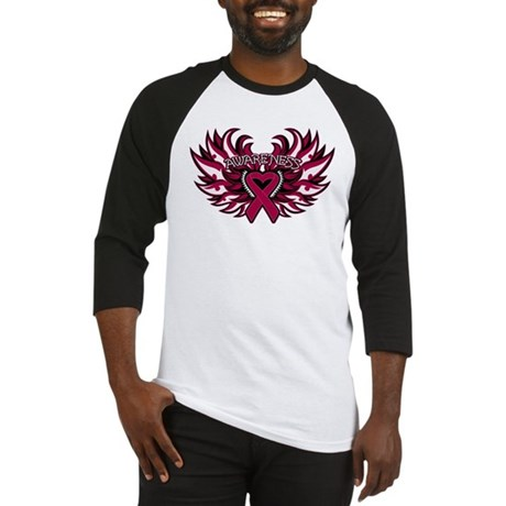 Multiple Myeloma Heart Wings Baseball Jersey