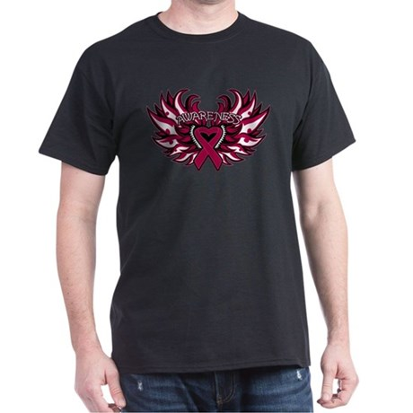 Multiple Myeloma Heart Wings Dark T-Shirt