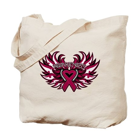 Multiple Myeloma Heart Wings Tote Bag