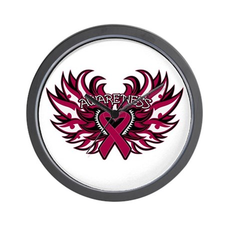 Multiple Myeloma Heart Wings Wall Clock