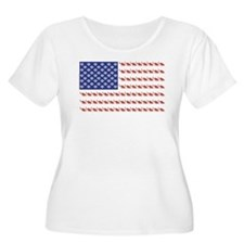 USA Patriotic Cat Flag T-Shirt