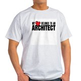 My Heart Belongs to an Architect Mens Shirt