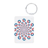 Obama logo spiral Aluminum Photo Keychain