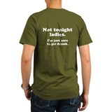 Not Tonight (back) T-Shirt