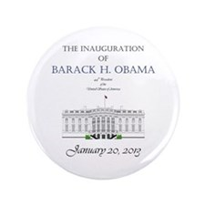 "Inauguration of Barack H. Obama 2013 3.5"" Button ("
