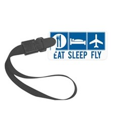 Eat Sleep Fly Luggage Tag - Small