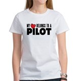 My Heart Belongs to a Pilot Women's Shirt