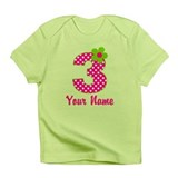 3rd Birthday Pink Green Infant T-Shirt