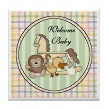 Welcome Baby Keepsake Tile Coaster