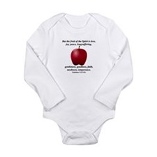 Fruit of the Spirit - Apple Long Sleeve Infant Bod