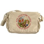 Alice Encounters Talking Flowers Messenger Bag