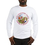Alice Encounters Talking Flowers Long Sleeve T-Shi