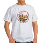 Alice Encounters Talking Flowers Light T-Shirt