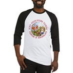 Alice Encounters Talking Flowers Baseball Jersey