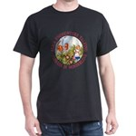 Alice Encounters Talking Flowers Dark T-Shirt