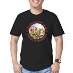 Alice Encounters Talking Flowers Men's Fitted T-Sh