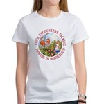 Alice Encounters Talking Flowers Women's T-Shirt