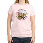 Alice Encounters Talking Flowers Women's Light T-S