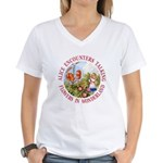 Alice Encounters Talking Flowers Women's V-Neck T-