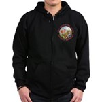 Alice Encounters Talking Flowers Zip Hoodie (dark)