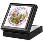 Alice Encounters Talking Flowers Keepsake Box