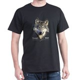 The Face of the Timber Wolf Black T-Shirt