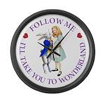 Follow Me - I'll Take You to Wonderland Large Wall