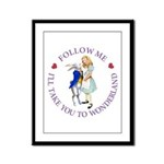 Follow Me - I'll Take You to Wonderland Framed Pan