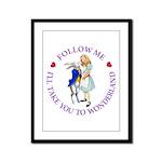 Follow Me - I'll Take You to Wonderland Framed Pan