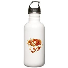 Yin Yang Dragon Fire Water Bottle