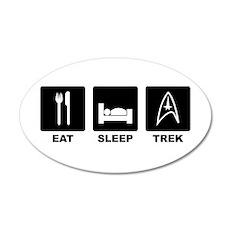 Eat Sleep Trek 20x12 Oval Wall Decal