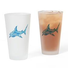 Great White Shark Grey Drinking Glass