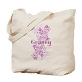 Granny Grandma Flowered Tote Bag