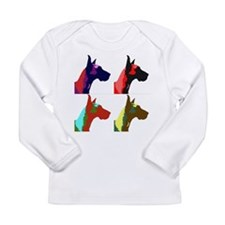 Great Dane a la Warhol Long Sleeve Infant T-Shirt
