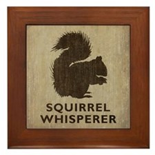 Vintage Squirrel Whisperer Framed Tile
