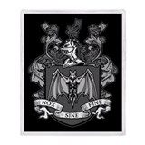 Gothic Bat Crest Blanket
