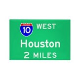 Houston Exit Sign Rectangle Magnet