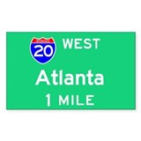 Atlanta Exit Sign Rectangle Decal