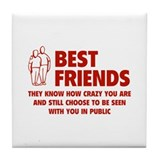 Best Friends Tile Coaster