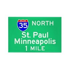 St. Paul Minneapolis Exit Sig Rectangle Magnet
