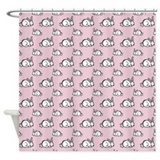 Cute Cartoon Rabbit Shower Curtain