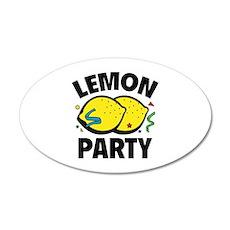 Lemon Party 22x14 Oval Wall Peel