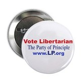 Vote Libertarian Button